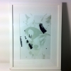 silk screen on paper, print on acetate and graphite