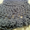 merino wool crochet piece by piss2mil.