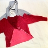 cotton, mohair wool and crochet triangle by piss2mil.