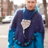 cotton, pure mohair wool and London-Beirut crochet triangle by piss2mil.